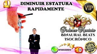 Download Video ☀ DIMINUIR - REDUZIR A ESTATURA - UNISSEX - BIOKINESIS BINAURAL [AVANÇADA E ACELERADA] MP3 3GP MP4