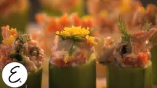 Smoked Salmon Spread In Cucumber Cups - Emeril Lagasse