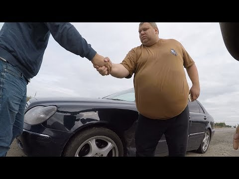 Смотреть Mercedes W220 за 107 тысяч рублей!!! Лютая понторезка ). Новый проект!!! онлайн