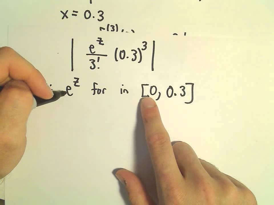 Taylor's Remainder Theorem - Finding the Remainder, Ex 3