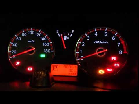 Зажигание Nissan Note на информационном табло