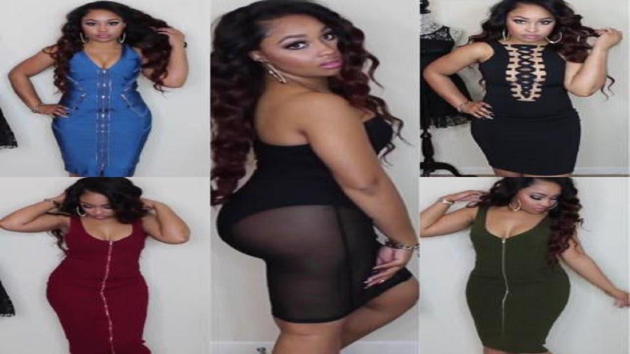 939599b33f Shop500Boutique Bootylicious Dress Haul - YouTube