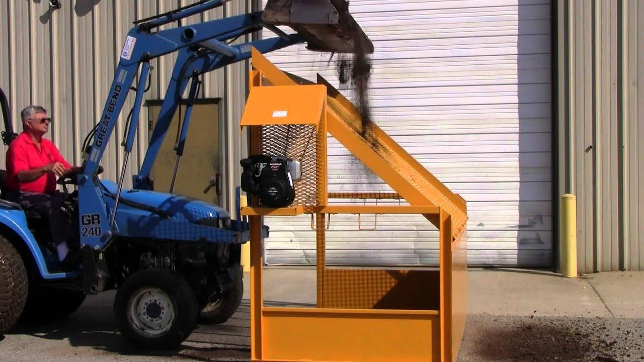 Eco screen topsoil screener youtube for Topsoil screener