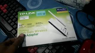 Unboxing Wireless USB Adapter TP-Link TL-WN722N