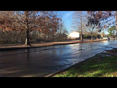 Watch video of water gushing from a large leak on Wall Boulevard in Algiers