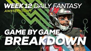NFL DFS Strategy - Week 12 Top Targets - 2019 Fantasy Football