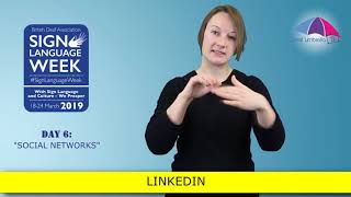 Sign Language Week 2019 - Day 6: Social Networks