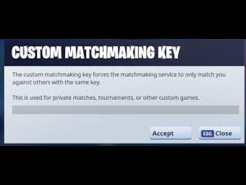 fortnite custom matchmaking epic games