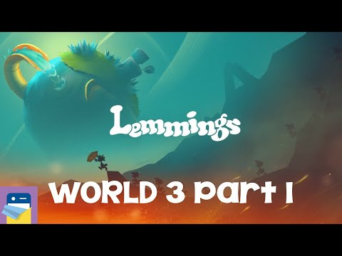 Lemmings: World 3 Part 1 Walkthrough Guide & iOS / Android Gameplay (by SAD PUPPY)