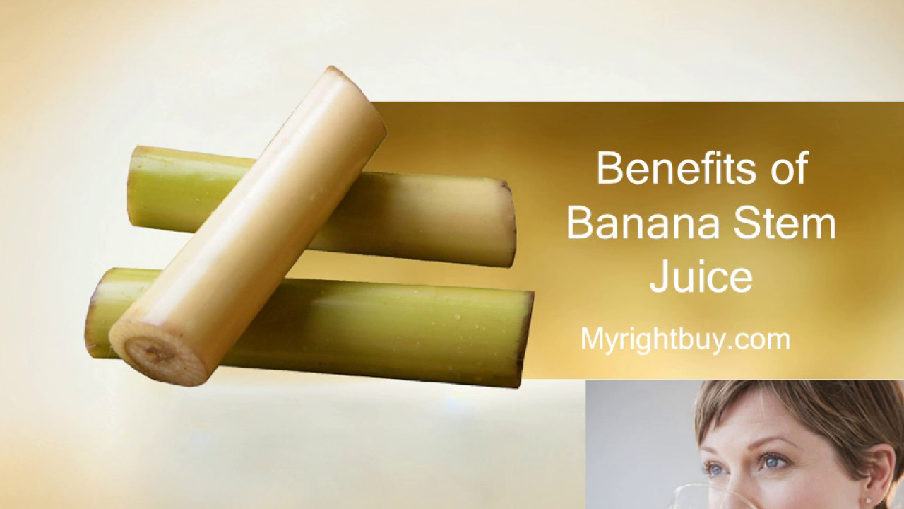 benefits of banana stem juice - youtube