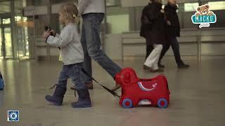 Gyerek bébitaxi bőrönd kerekeken Kutya Bobby BIG t