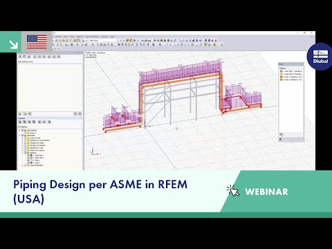 Dlubal Webinar: Piping Design per ASME in RFEM (USA)