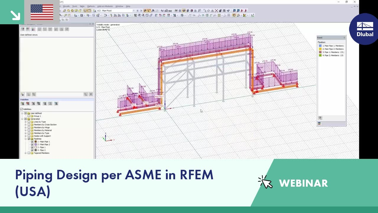 Dlubal Webinar Piping Design Per Asme In Rfem Usa Dlubal Software