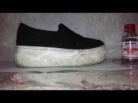 Как почистить белую подошву обуви