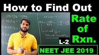 (L-2) How to find Rate of Reaction (Chemical Kinetics) | NEET JEE 12th Board | By Arvind arora