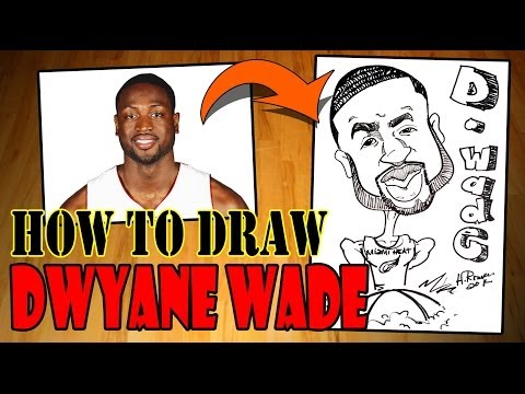How to Draw A Quick Caricature - Dwyane Wade