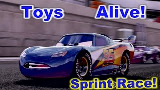 Cars 2: The video game ☆ Lightyear Lightning McQueen ☆ Race on Terminal Sprint