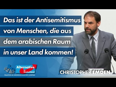 Das ist der Antisemitismus von Menschen, die aus dem arabischen Raum in unser Land kommen! C. Emden