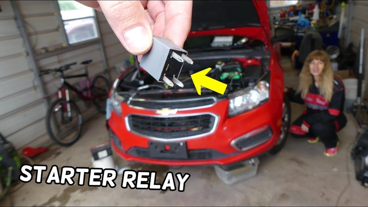 Chevrolet Cruze Engine Starter Relay Location Replacement Cruze No Start No Crank Youtube