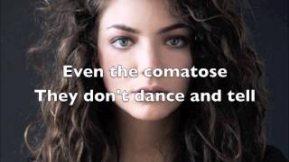 Lorde - Team (Lyrics) + Free mp3 download!