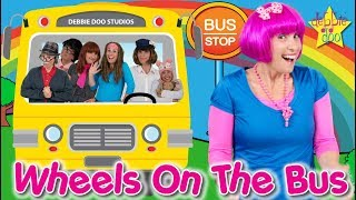 The Wheels On The Bus Song   Featuring The Five Finger Family and Debbie Doo