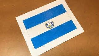 Salvadoran Flag Drawing 🇸🇻 (El Salvador)