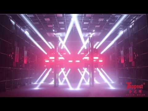 Lighting show in show room   Toppest Lighting 2017