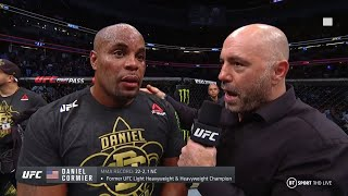 Emotional Daniel Cormier hints at retirement after loss to Stipe at UFC 241