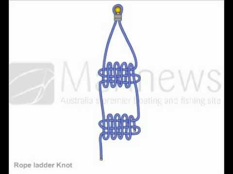 How To Tie Rope Ladder Knot Youtube