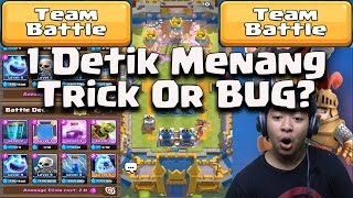 WOW 1 Detik Menang 3 Crown Clan Battle ! - Clash Royale Game Play Indonesia