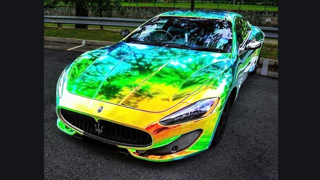Color Changing Chrome Compilation Of Exotic Super Cars In Vinyl Wrap