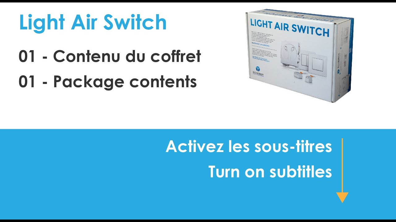 Light Air Switch - Contenu du coffret / Package contents