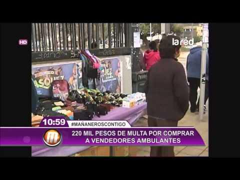 En Santiago cursarán multas por comprar a vendedores ambulantes