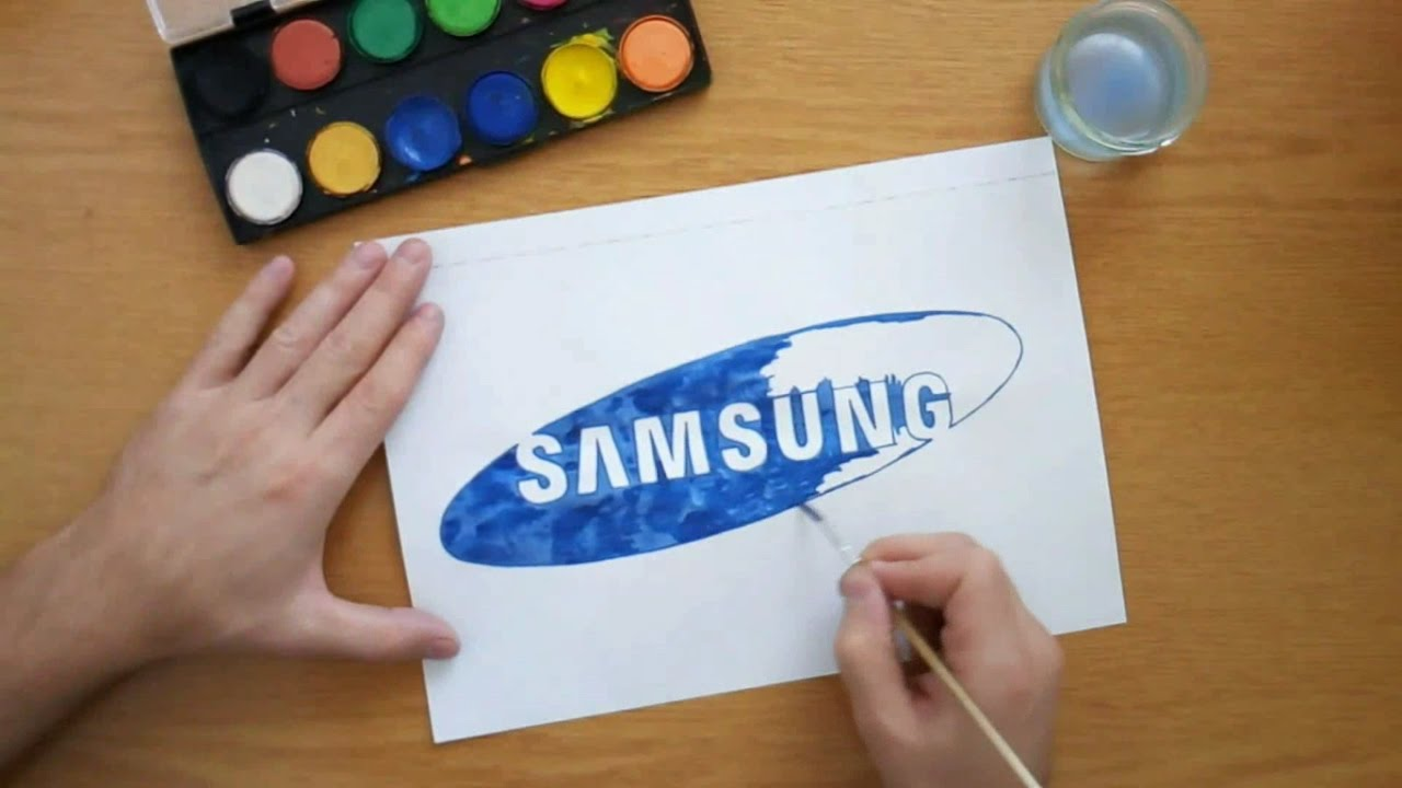 how to draw the samsung logo drawing famous logos youtube