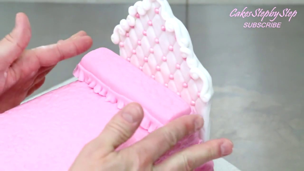 How To Make A Princess Doll Bed Cake By Cakesstepbystep Youtube