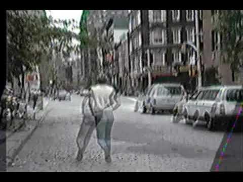1987 - Walking down Bleecker Street (May, 1987)