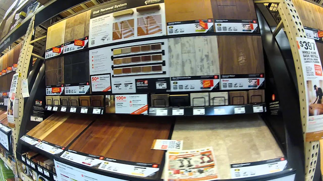 Laminate Flooring Display For Sale At Home Depot