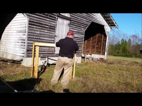 Building a homemade wood sled