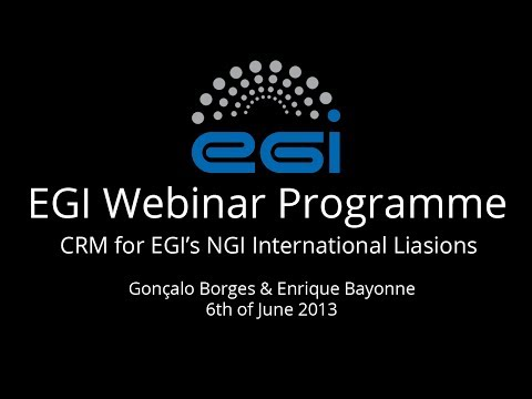 Introduction to EGI's Customer Relationship Management software - Webinar