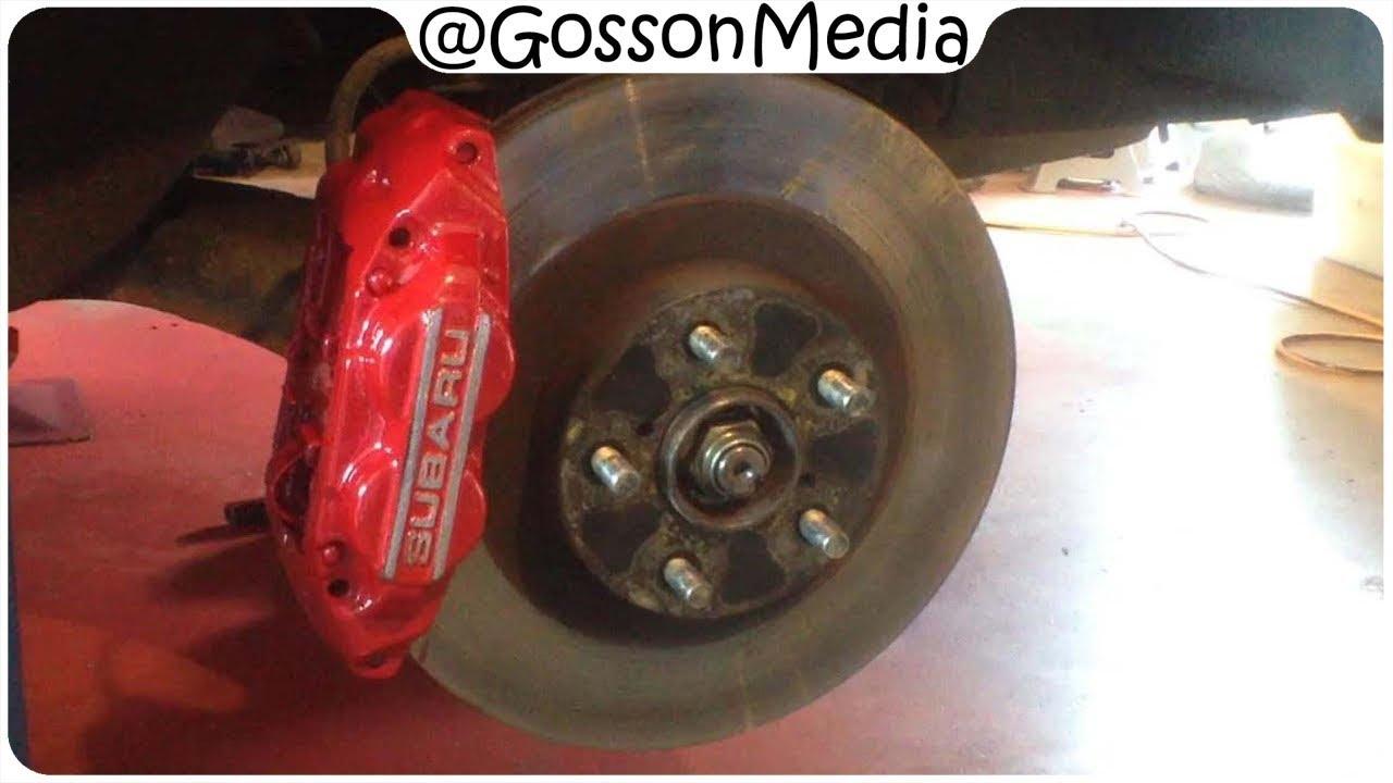 Re colouring subaru wrx 4 piston front brake calipers