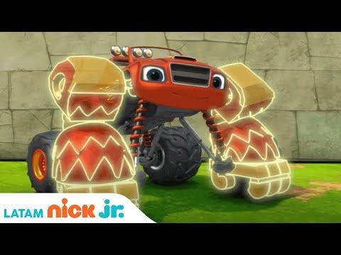 Gorila Monster Machine 🦍 Con Blaze And The Monster Machines   Nick Jr.   América Latina   Español