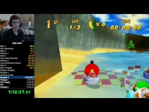 Diddy Kong Racing 100% Speedrun in 1:52:20