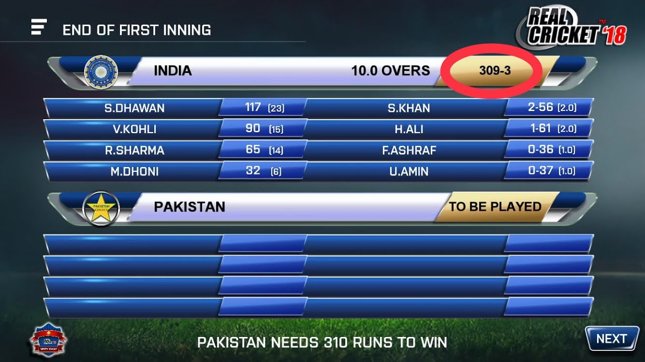 Download IND 309-3 Vs PAK | Hindi commentary | Real Cricket™ 18 | Hd Video