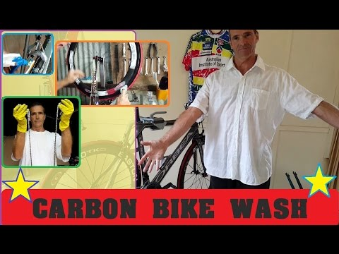 Carbon fibre bike clean - you need to know !