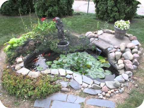 Backyard fish ponds a how to youtube for Large outdoor fish ponds