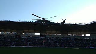 Así ha sido la llegada de los Reyes Magos en helicóptero a Logroño