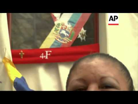 Shrine set up in memory of late leader Chavez