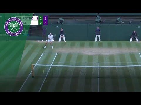107 mph Juan Martin Del Potro forehand! | Wimbledon 2018