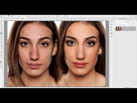 Ретушь методом частотного разложения в Adobe Photoshop