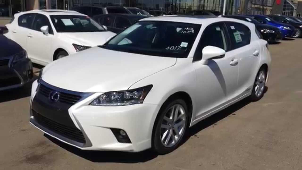 Elegant 2014 Lexus CT 200h Hybrid   Technology Package Review   White On Black    YouTube